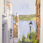A view to the lovely bay at Runswick