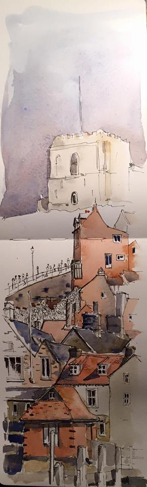 whitby sketch from moleskine