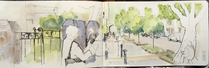 Harrogate St pauls Sketchcrawl workshop June 14 2016 2