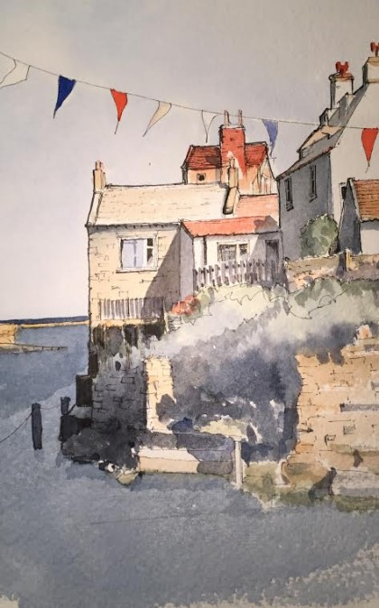 Staithes & bunting demo piece cropped